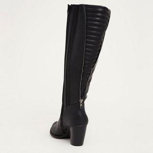 Torrid Quilted Zip Back High Heel Kenn High Boots